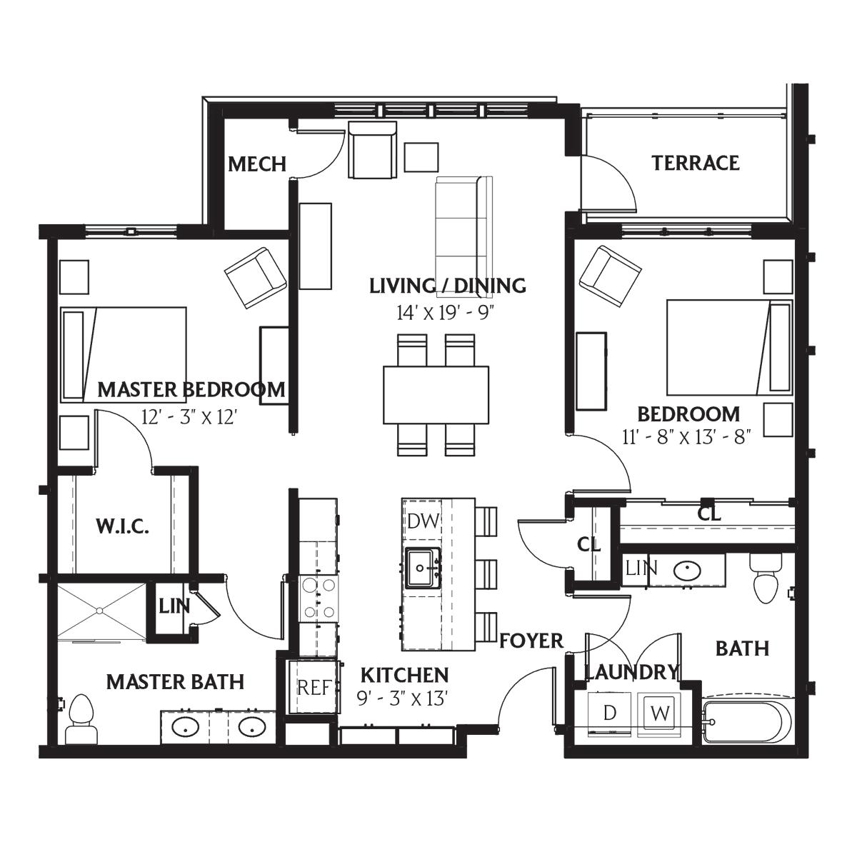 Clausen Floor Plan